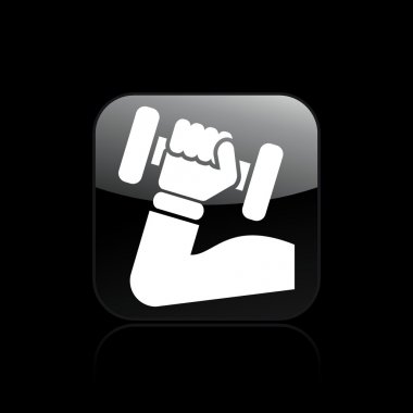 Vector illustration of isolated gym icon