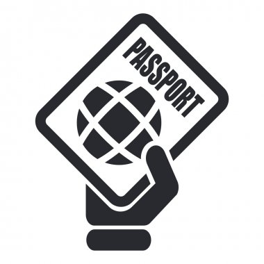 Vector illustration of single passport icon