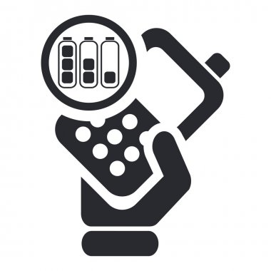 Vector illustration of single phone icon