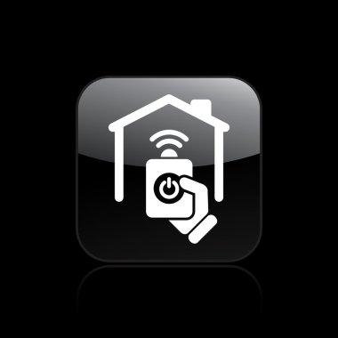 Vector illustration of single home remote icon