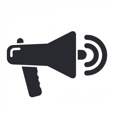 Vector illustration of single megaphone icon