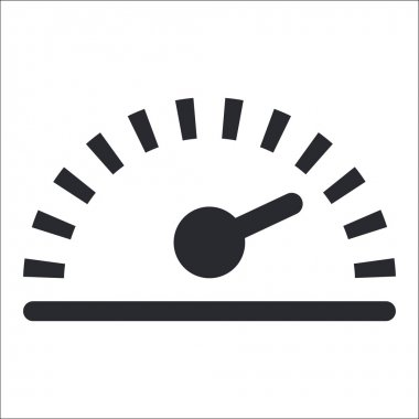 Vector illustration of single speed icon