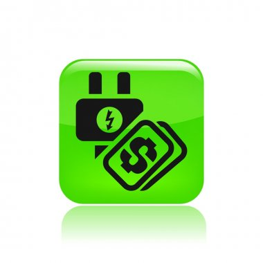 Vector illustration of single energy cost icon