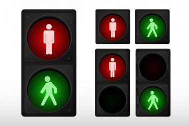 Vector illustration of single traffic light icon
