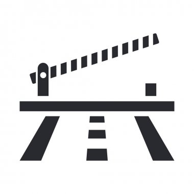 Vector illustration of isolated barrier icon