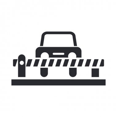 Vector illustration of isolated car barrier icon