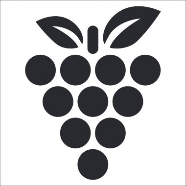 Vector illustration of isolated grape icon