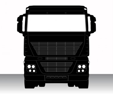 Vector illustration of single isolated truck icon