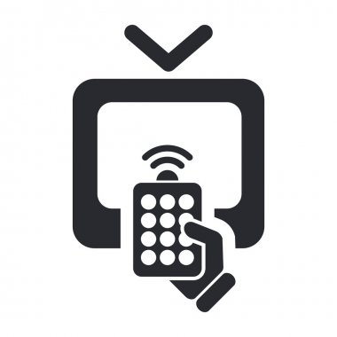 Vector illustration of isolated remote tv icon