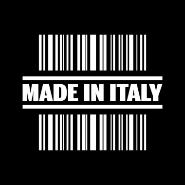 Vector illustration of single made in Italy icon