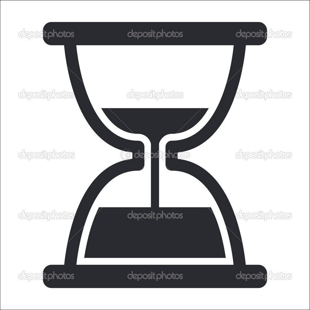 Vector illustration of isolated hourglass icon