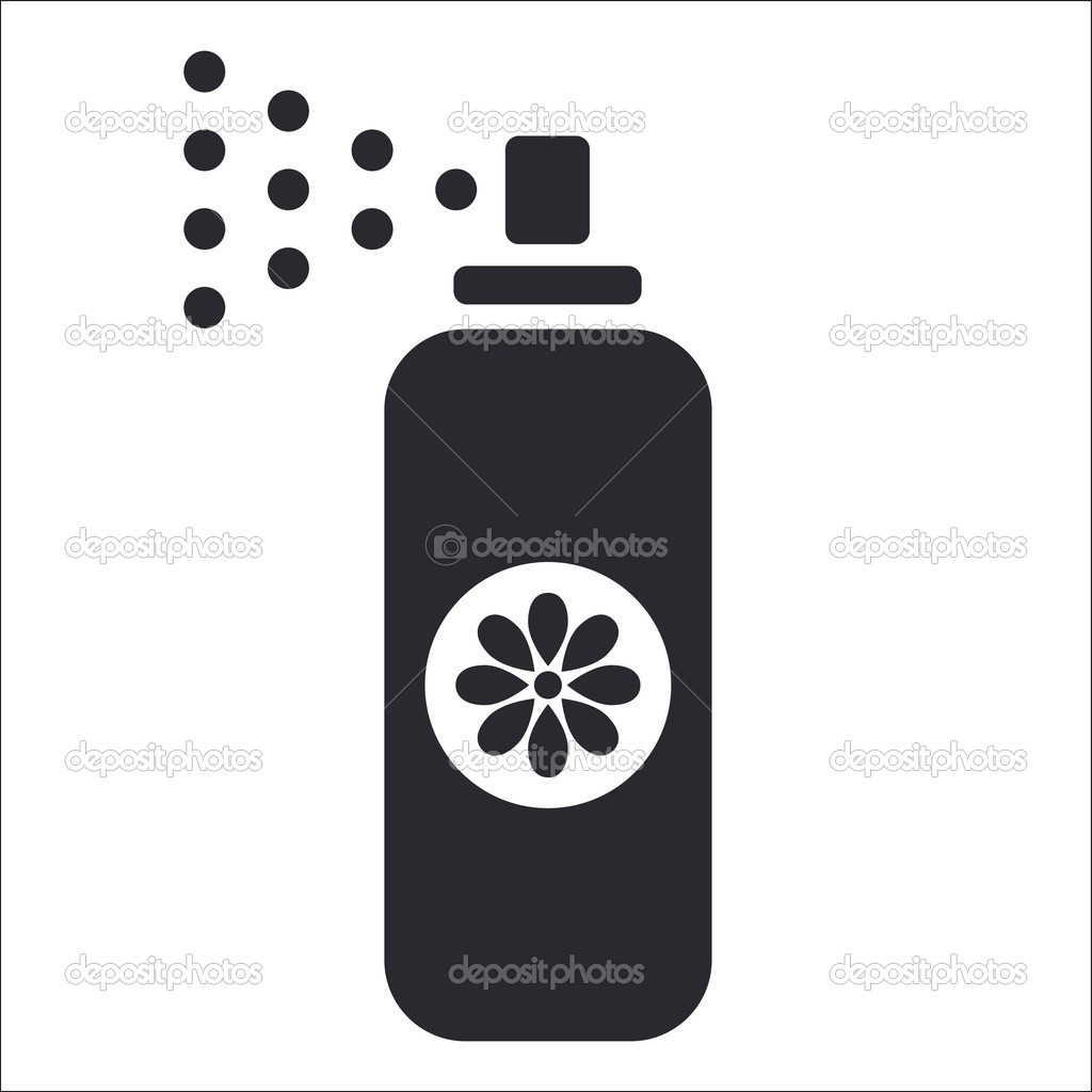 Vector illustration of isolated spray icon