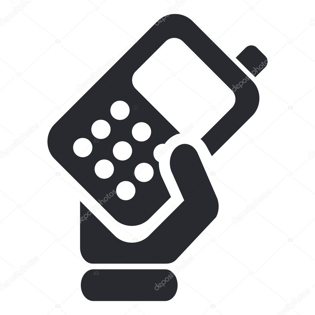 Vector illustration of isolated phone handing icon