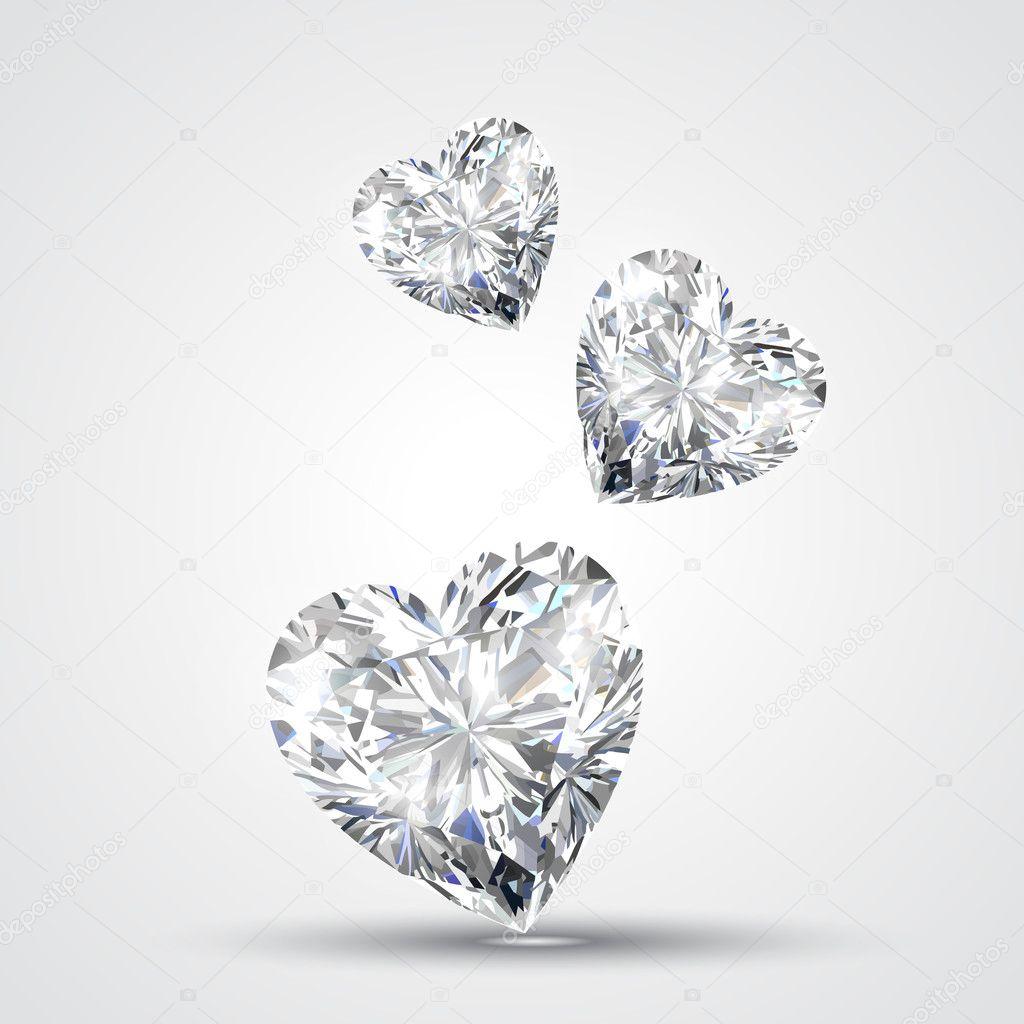 diamond shape heart