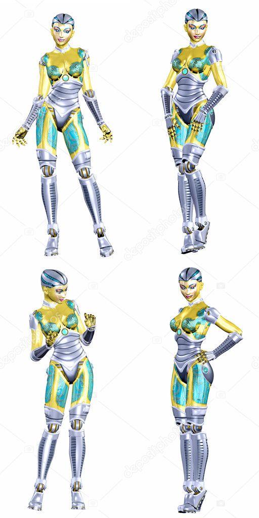 Female Robot Pack - 3of5