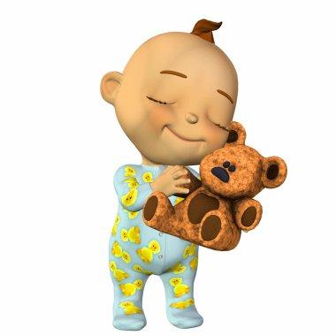 Happy baby cartoon