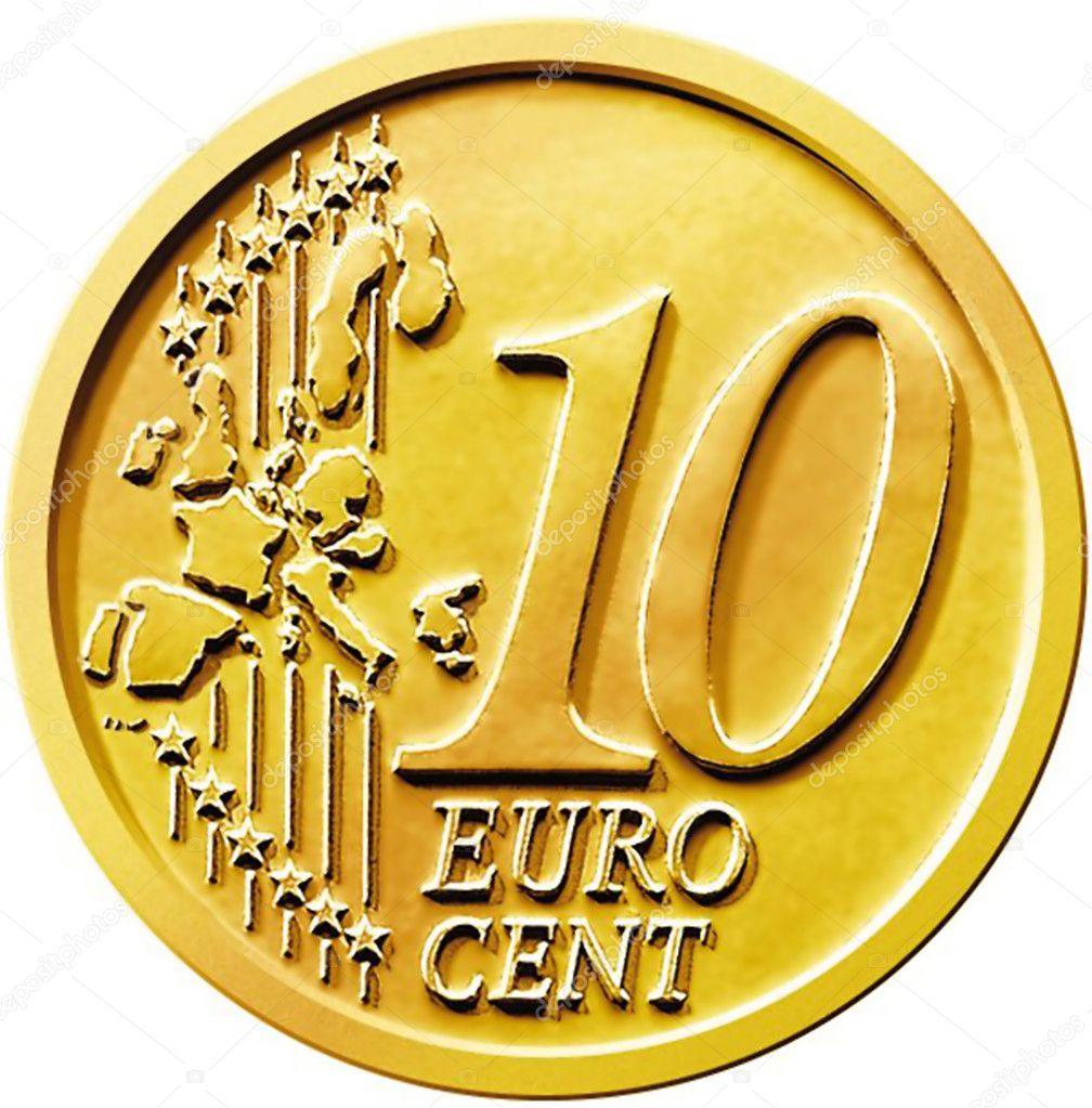 Zehn 10 Cent Euro Münze Stockfoto Chastity 9125146
