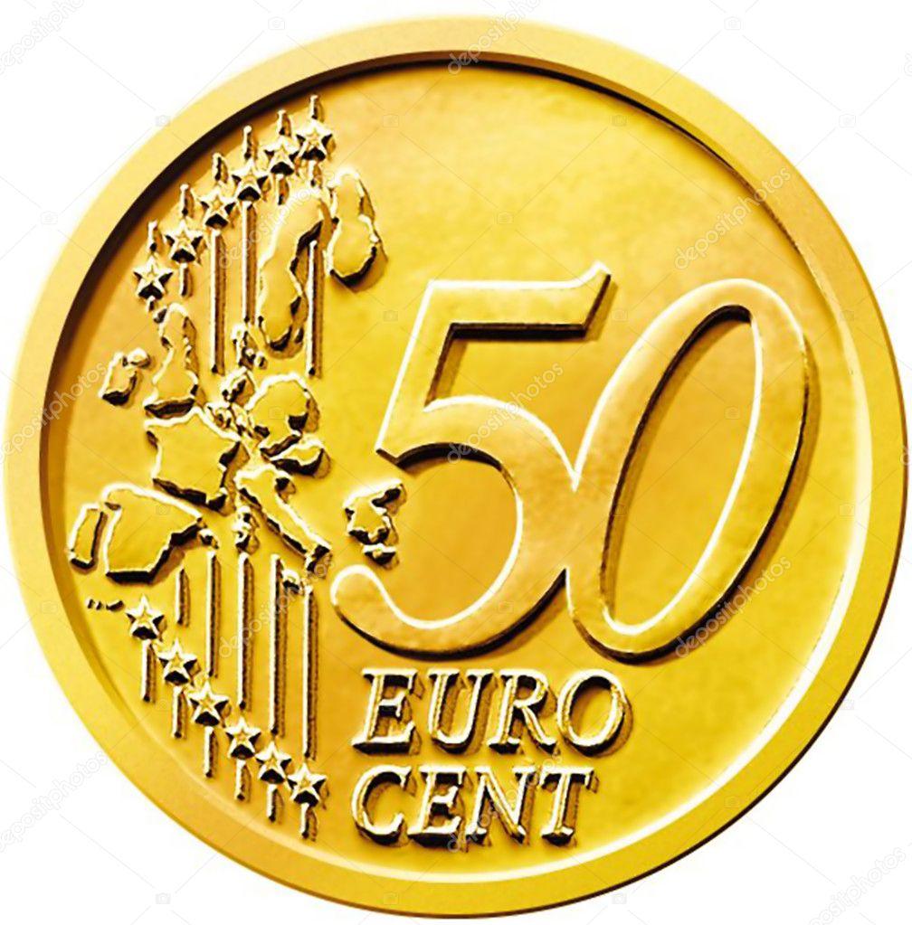 Moneta 50 cinquanta centesimi di euro foto stock for Moneta 50 centesimi