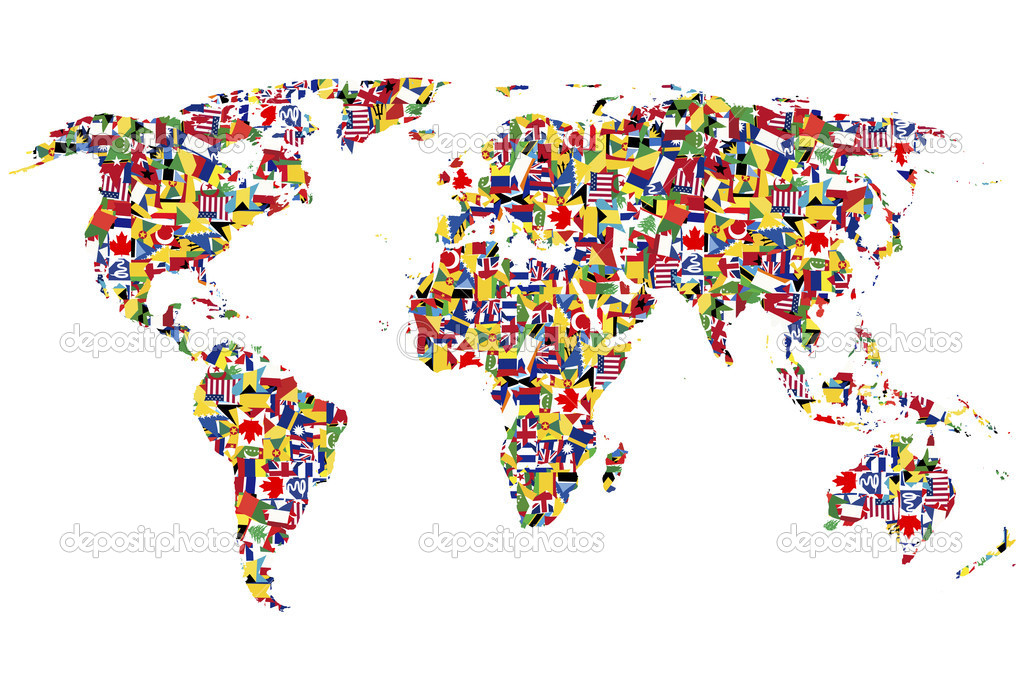 World map made of flags stock photo hibrida13 8137306 world map made of flags stock photo gumiabroncs Gallery