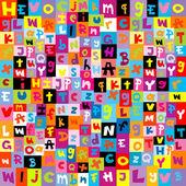Barevný vzorek s písmeny abecedy