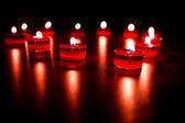 valentinky svíčky v podobě srdce