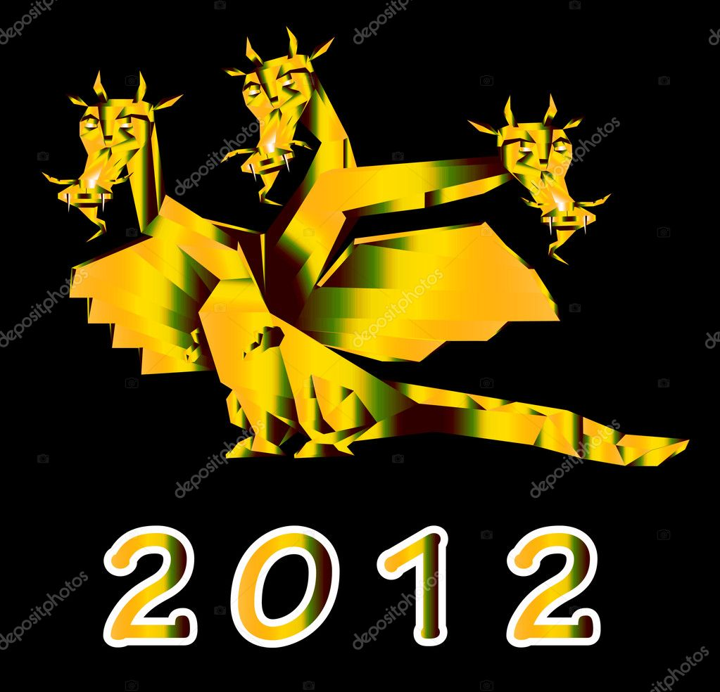 Fantastic Dragon A Symbol 2012 New Years Stock Photo Alex150770