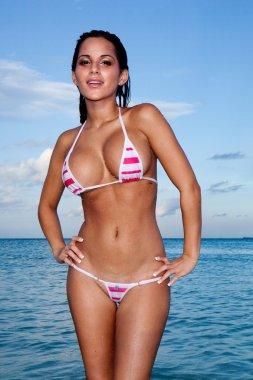 Sexy Busty Model In Bikini