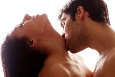 Romantic Kiss On Throat