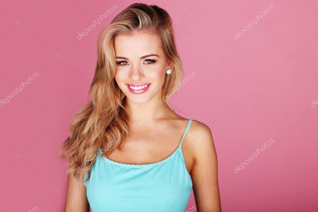 Beautiful Smile From Pretty Blonde