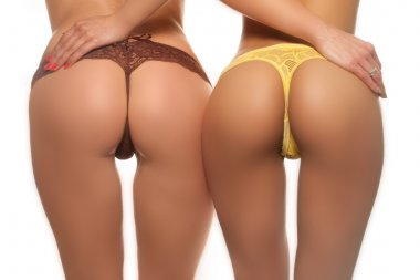 Two sexy butts