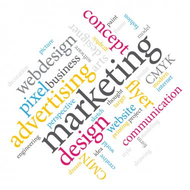 Marketing word cloud. clip art vector