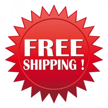 Free shipping ! Red website vector icon.