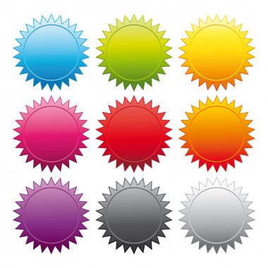 Promotional stickers. Colorful vector collection.