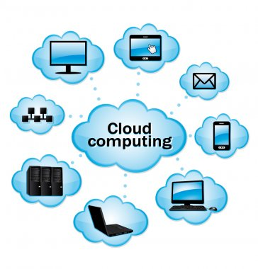 Cloud computing. Vector illustration.