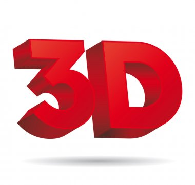 3D vision icon. Three dimensional vector icon.