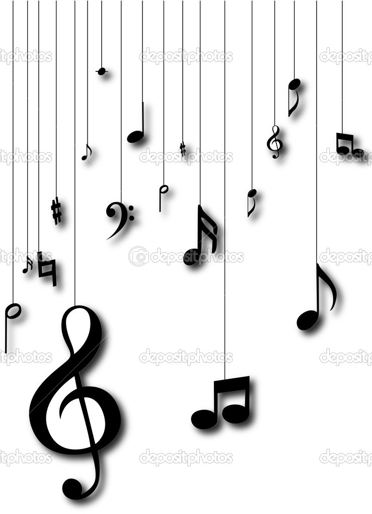 Music notes silhouette
