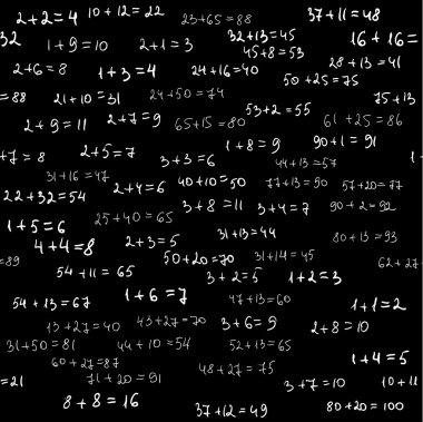 Arithmetics seamless pattern