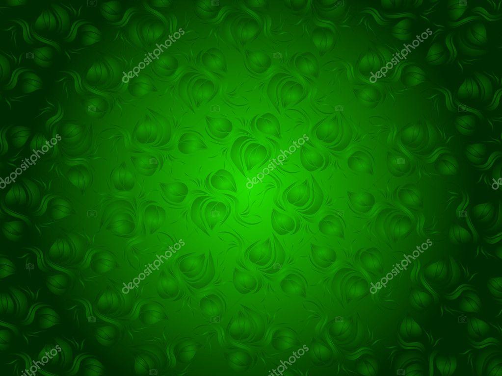 Fiori Verde Su Sfondo Verde E Nero Foto Stock Carenas1 8553539