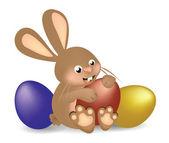 Fotografie osterhase mit eier