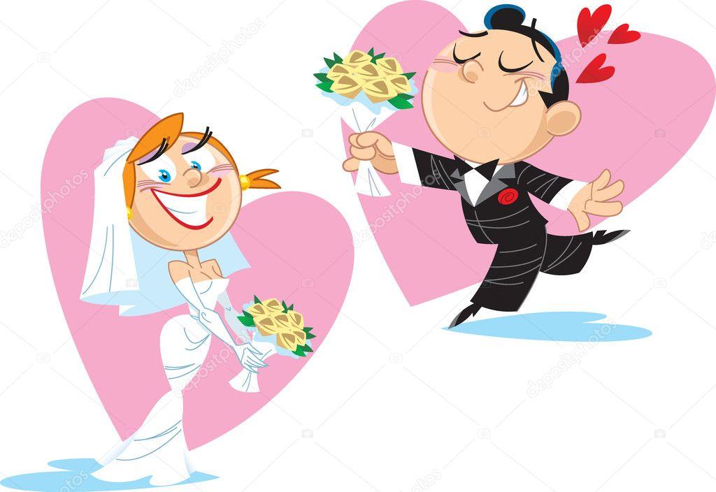 Картинки прикольные жениха и невесты, открытки