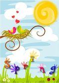 Frühling, Liebe in der Luft.