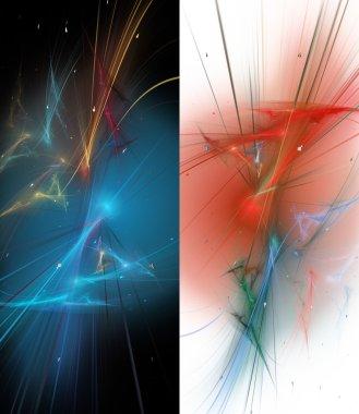 Two elegant fractal background