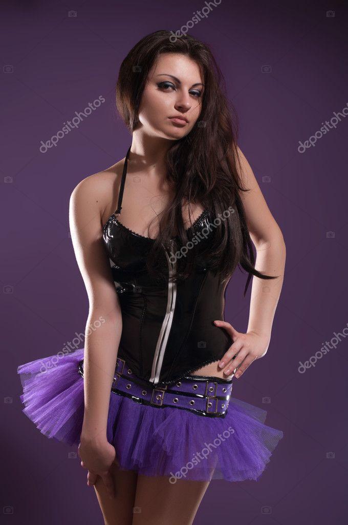 dama sexy traje BENIRME — Foto de stock © FlexDreams #10244397