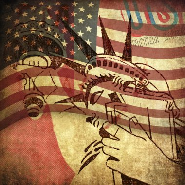 America, grunge background