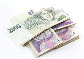 Cseh bankjegyek névleges érték egy-két ezer koronát