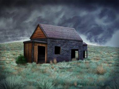 Solitary Abandoned Shack - Digital Painting