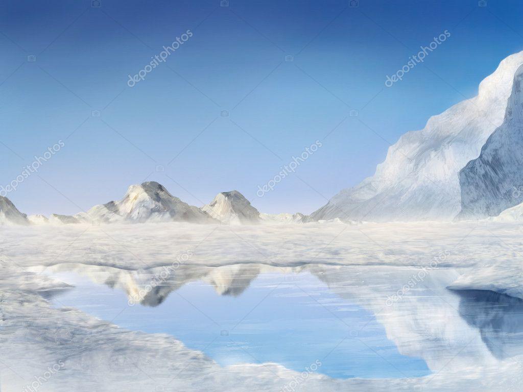 Frozen Lake - Digital Painting