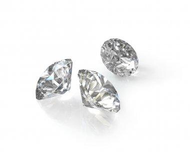 Three round, old european cut diamonds