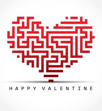Valentine card- maze heart