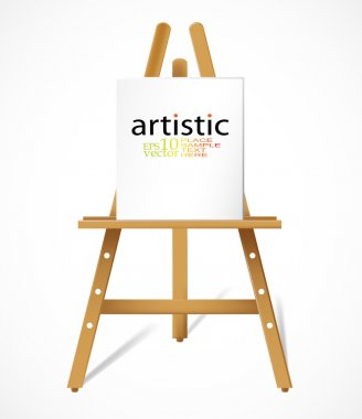 Easel with blanc canva